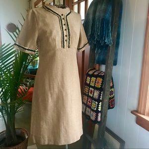 vintage 60s wool dress
